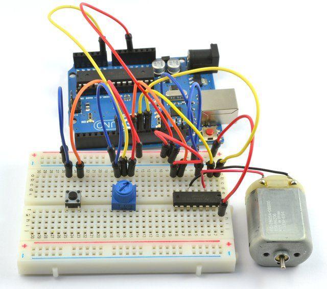 Arduino Lesson 15  Dc Motor Reversing In 2020