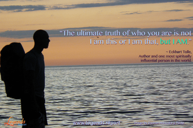 """""""The ultimate truth of who you are is not I am this or I am that, but I AM.""""…"""