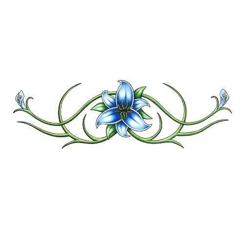 blue flower armband tattoo ideas pinterest armband armband tattoo and tattoo designs. Black Bedroom Furniture Sets. Home Design Ideas