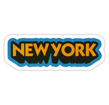 New York State Sticker Retro Pop Sticker By Retroready Pop Stickers Retro Pop Cute Stickers