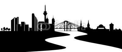 Dusseldorf Skyline Mit Rhein Dusseldorf Skyline Skyline Dusseldorf