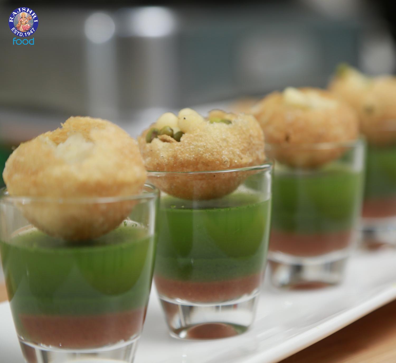 Pani Puri (Canape With Sweet Tangy & Spicy Dip). Pani Puri