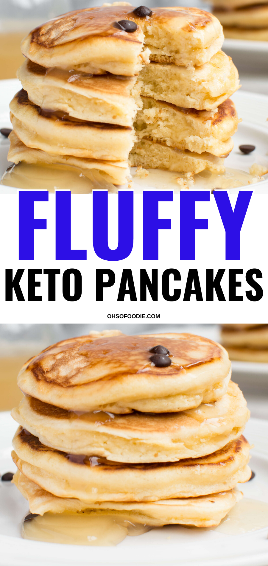 Fluffy Keto Pancakes Make With Almond Flour And Cream Cheese - Oh So Foodie