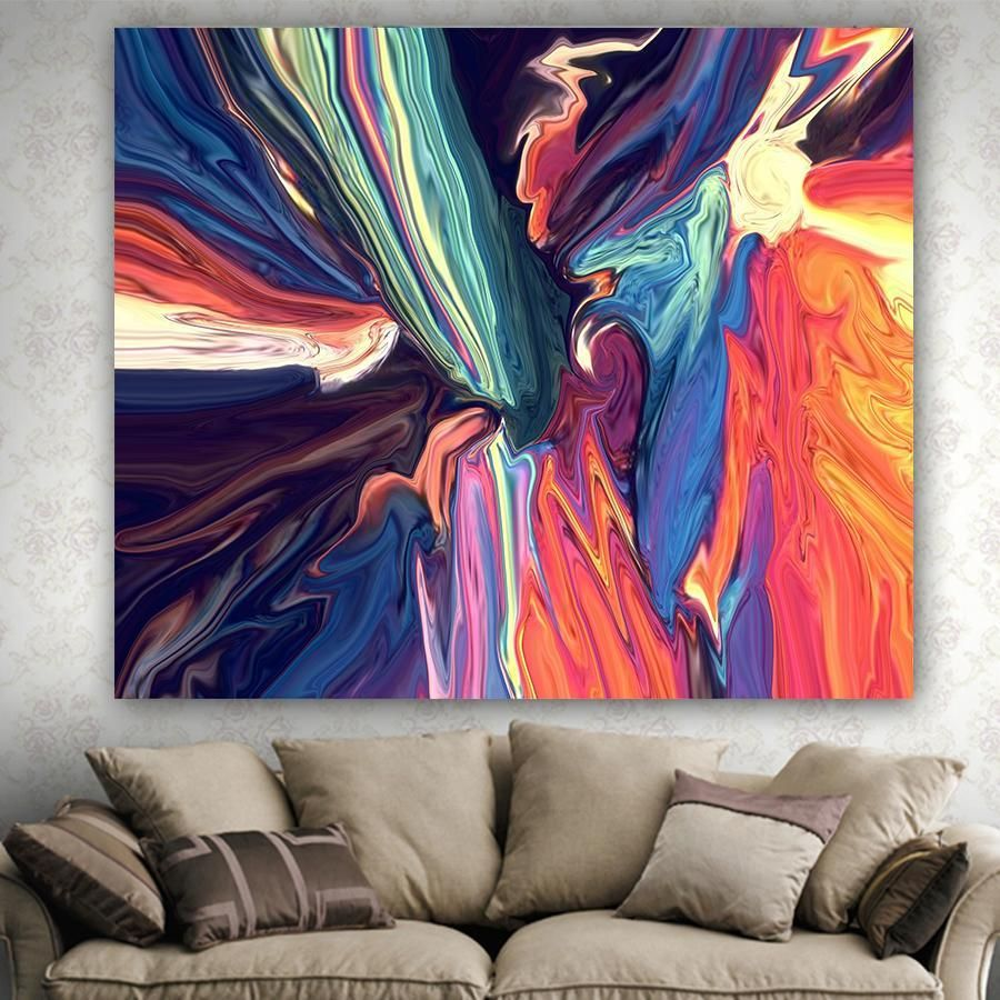 Colorful Simply Pattern Printed Tapestries Wall Hanging Blanket Tapestry