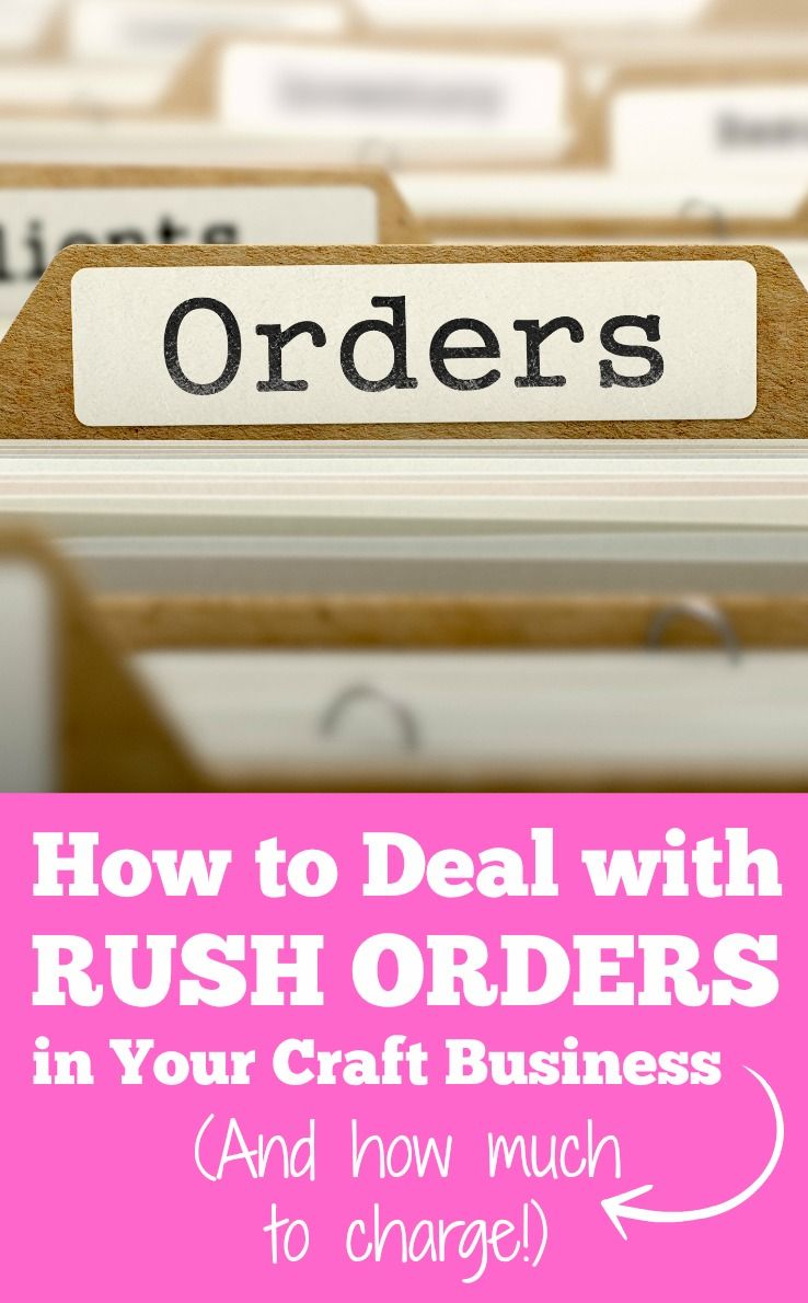 Rush Order Fees and Your Silhouette or Cricut Business