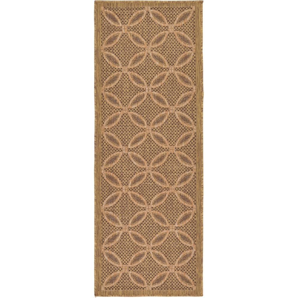 Unique Loom Outdoor Spiral Light Brown 2 2 X 6 0 Runner Rug 3127213 Area Rugs Outdoor Area Rugs Indoor Outdoor Area Rugs