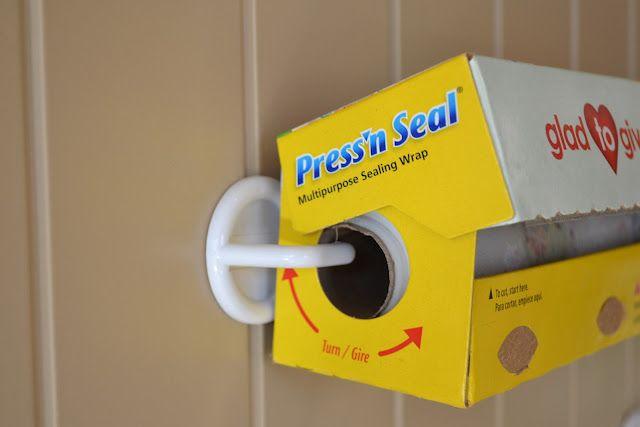 Hang your rolls onto your pantry door with plastic hooks...