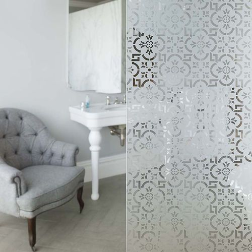 Panneau en verre décoratif   pour meuble   pour salle de bain   pour