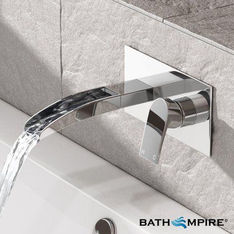 Denver Waterfall Wall Mounted Basin Mixer  Basin Mixer Basin And Stunning Bathroom Fixtures Denver Review