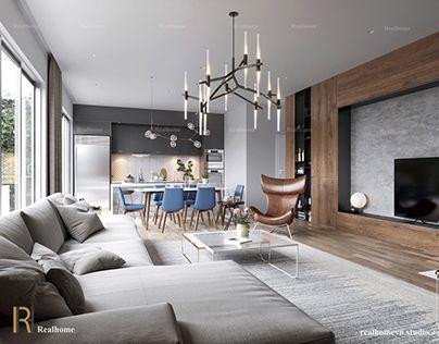 Arredare un open space cucina soggiorno vintage 04   客厅家具 ...