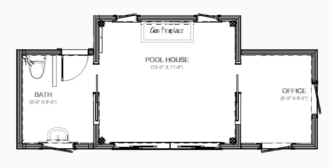 Bradford Pool House Floor Plan | New House | Pinterest | Pool ...