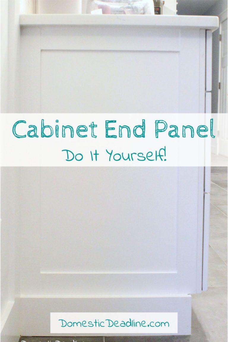 Diy Cabinet End Panels Domestic Deadline Diy Cabinets Kitchen Cabinets End Panels Fixer Upper Kitchen