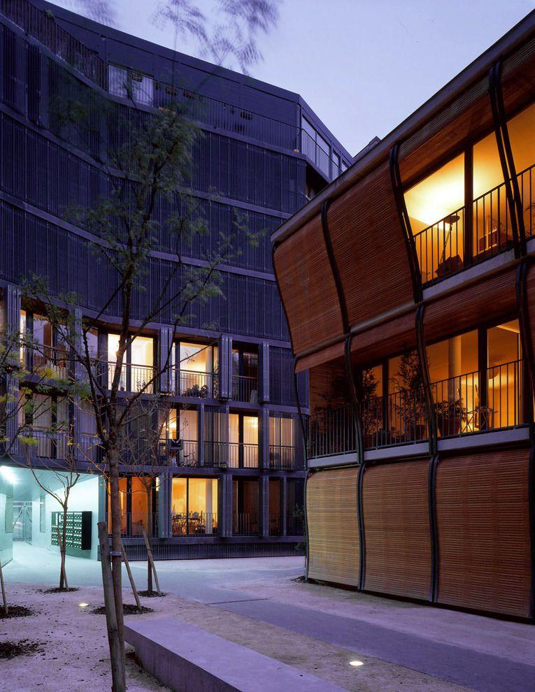 Herzog & de Meuron - 17 Rue des Suisses social housing, Paris 2000