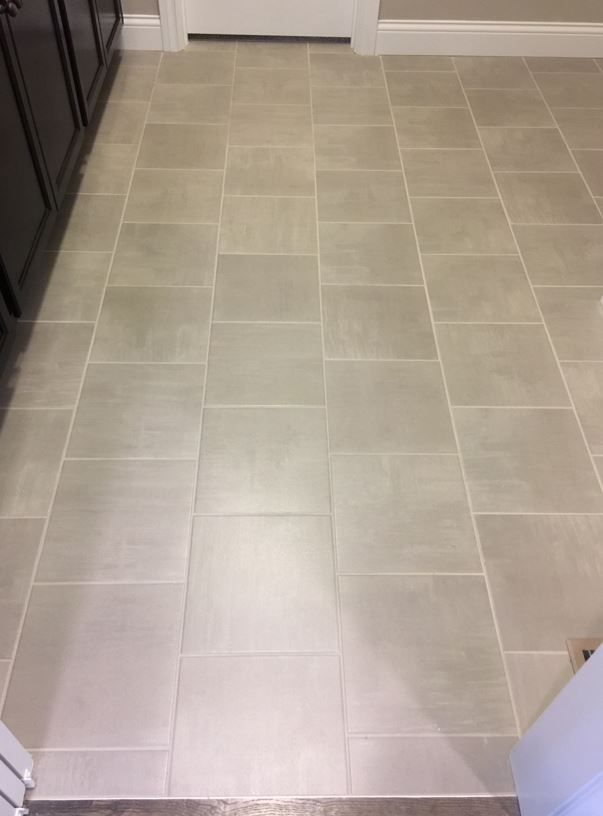 Skybridge Gray 12x12 Tile On Floor Bathroom Floor Tiles Tile Floor Flooring