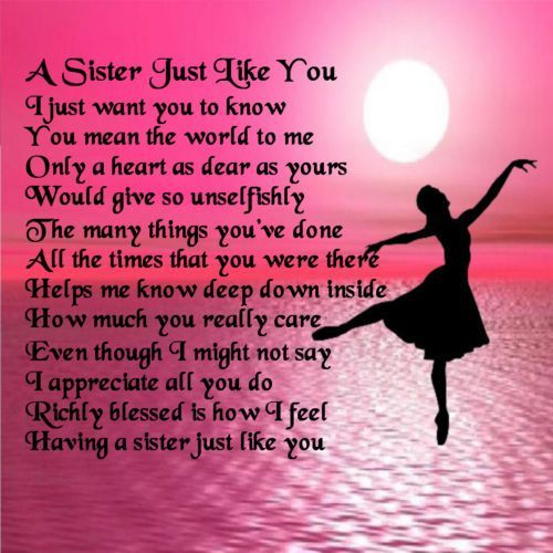 Small Birthday Poem To Sister Girl From Sister 1 Image Sister Birthday Quotes Sister Poems Sister In Law Quotes