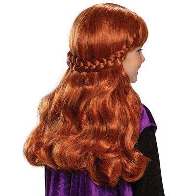 Girls Frozen 2 Anna Halloween Costume Wig Halloween Costume
