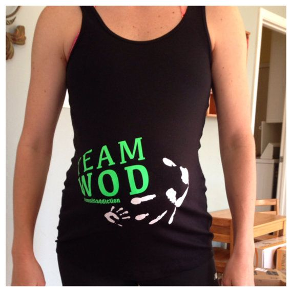 Crossfit Maternity Tank Team WOD by HobsonHomestead on