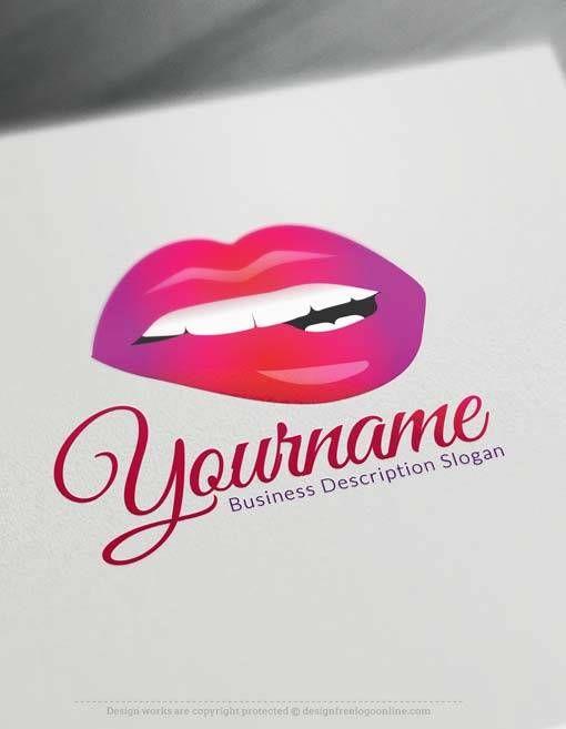 Logo Design Of Fashion Brand Red Lips