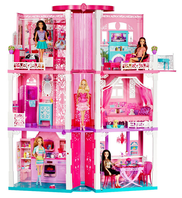 The Barbie Dreamhouse Has A First Floor Kitchen With Stainless