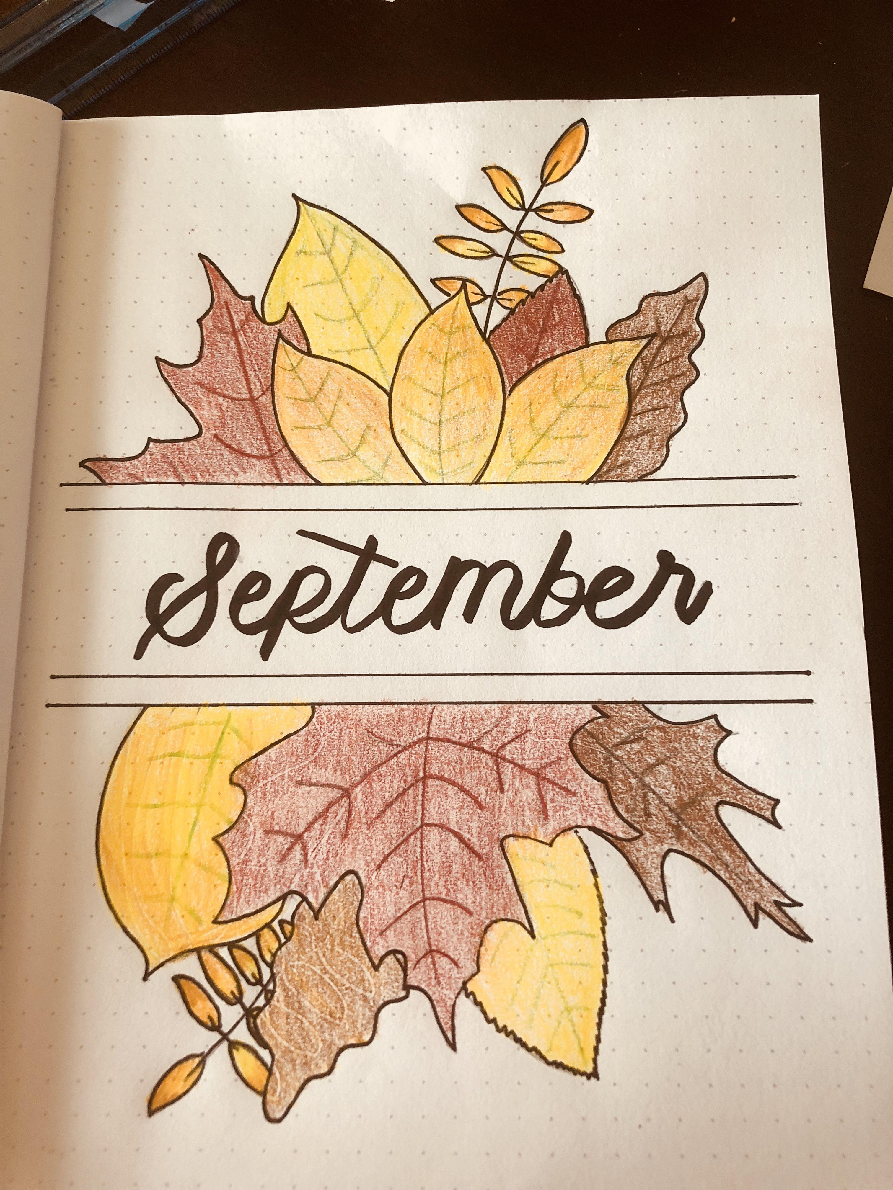 September bullet journal layout   Arte en cuadernos, Cuadernos ...