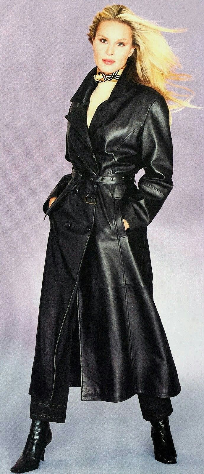 Long leather trench coat Long leather coat, Trench coats