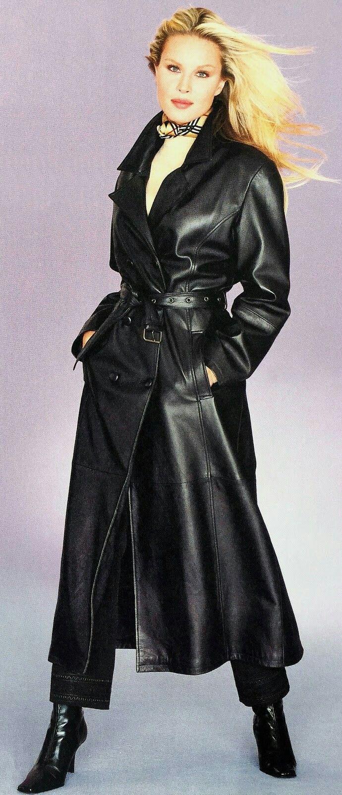 Lederlady Trench Coats Women Long Leather Coat Leather Dresses [ 1600 x 690 Pixel ]