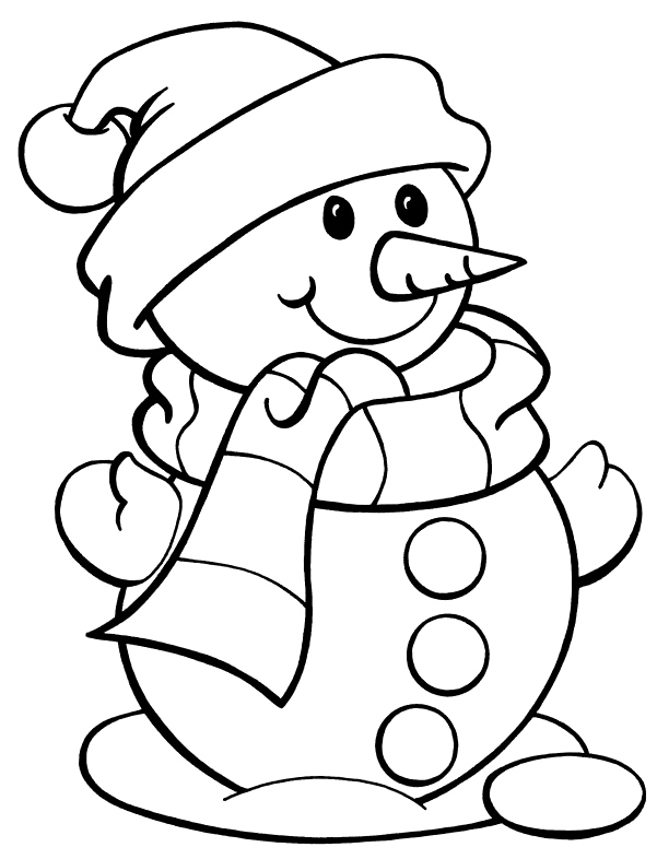 I have download Snowman With Long Nose Coloring Page