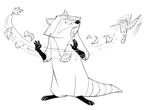 pocahontas raccoon coloring pages - photo#8