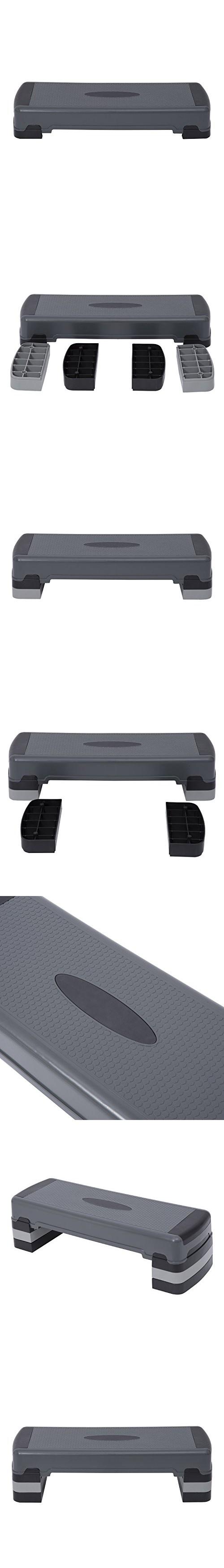 """Soozier 36"""" Aerobic Stepper Fitness Platform - Adjustable 6""""-8""""-10"""""""