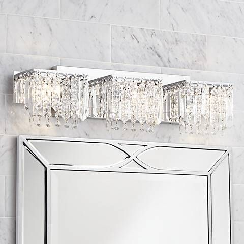 Possini euro design crystal strand 25 34 wide bath light bath possini euro design crystal strand 25 34 wide bath light mozeypictures Images