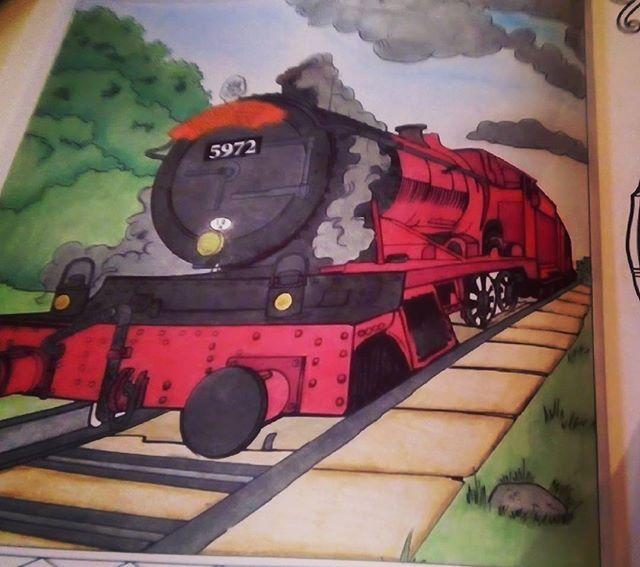 Poudlardexpress Harrypotter Harrypottercoloringbook Harrypottercoloring Harrypottercolouringbook Magicalplaceandcharacter Lieuxetpersonnagesmagiques