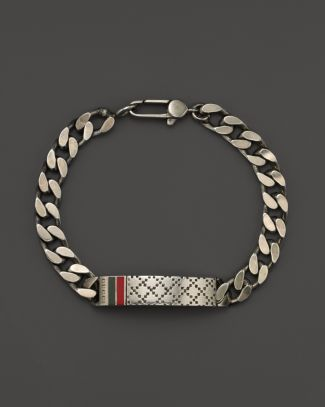 Gucci Mens Bracelet with Diamantissima Motif Bloomingdales For