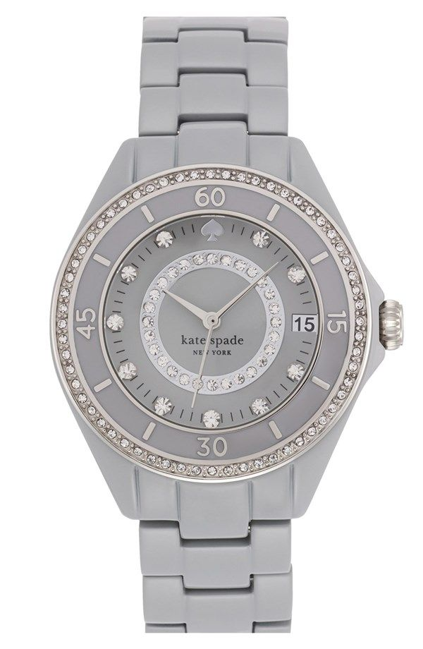 c98f34d45e77 Love this sparkly grey Kate Spade watch!