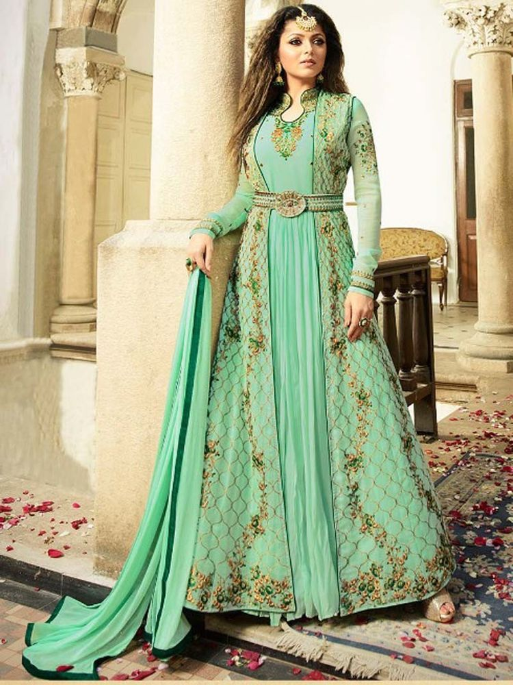 b3397dd74dd  Designer  Latest  embroidery  Party wear  Indian  Pakistani  Long  Anarkali   Suit Fabric  Shoppingover  SalwarKameez