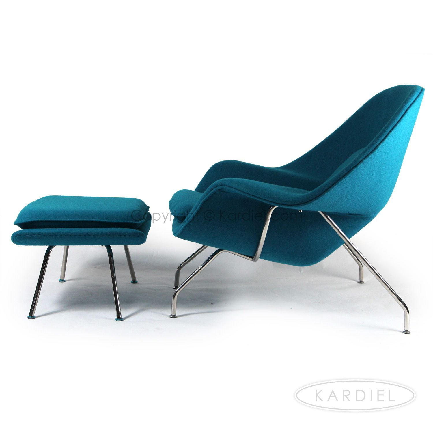 teal Womb chair by Kardiel