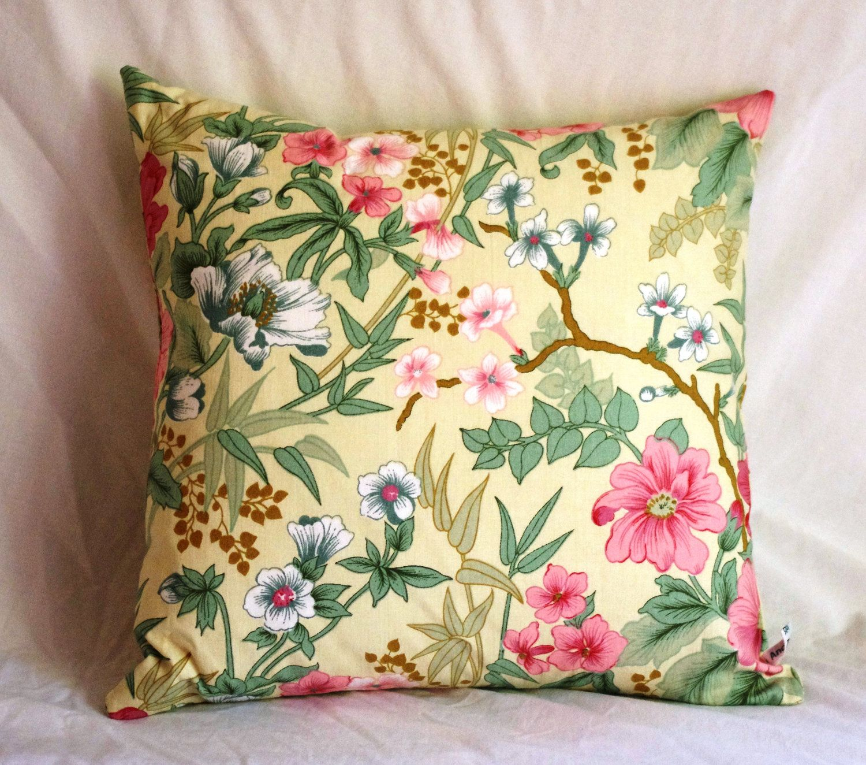 Cushion coverhandmadeexotic floral fabric