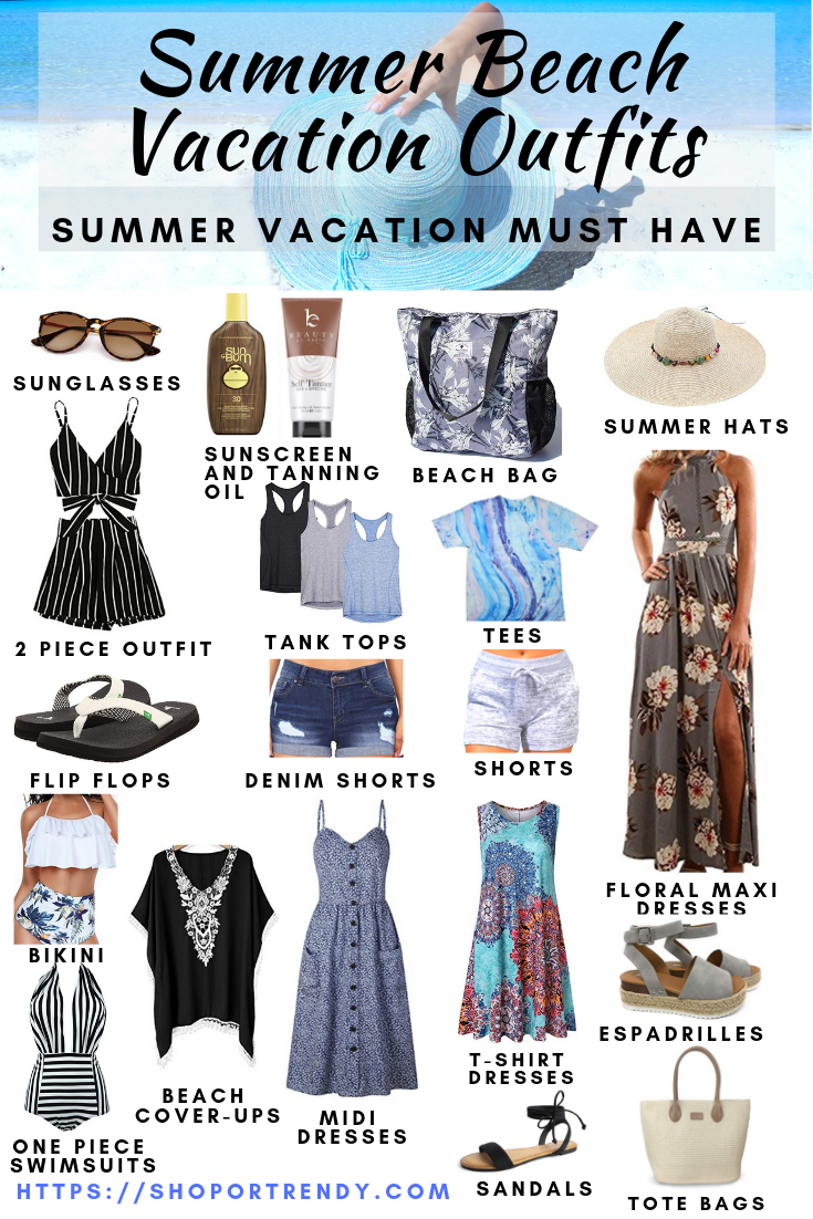 Summer Beach Vacation Outfits #beachvacationclothes
