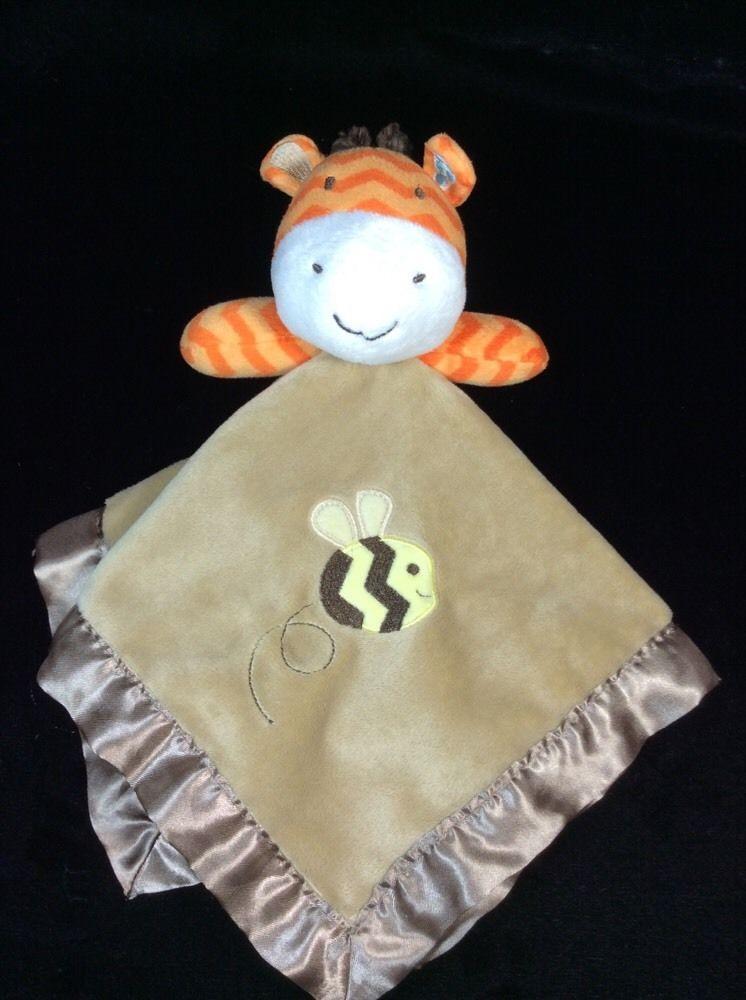 Circo Giraffe Bee Chevron Brown Orange Baby Security Blanket Lovey