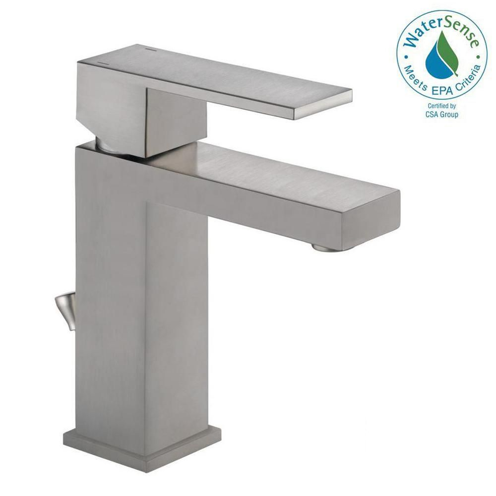 Delta Modern Single Hole Single Handle Bathroom Faucet In