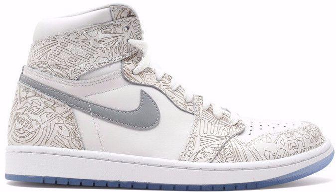on sale 4b7c4 b983c Jordan 1 High OG Laser White Ice Blue Gray