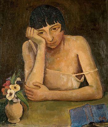 Karl Hofer - Sinnende junge Frau (1925)