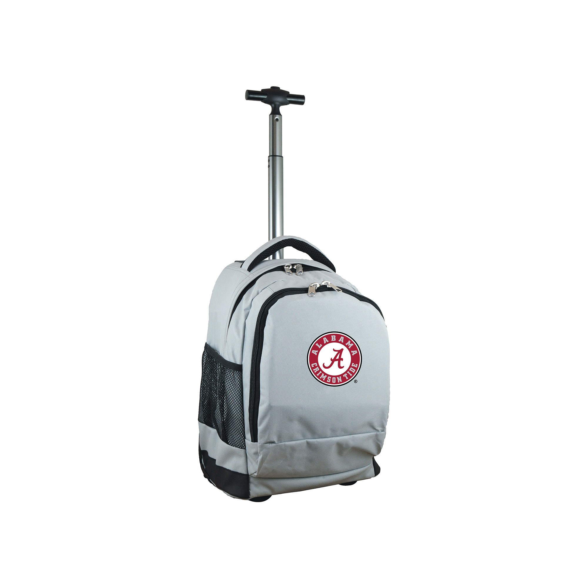 NCAA Alabama Crimson Tide Gray Premium Wheeled Backpack