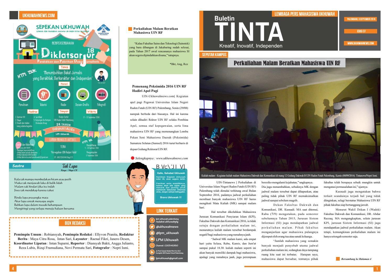 Buletin Tinta Edisi 37,  9 September 2016