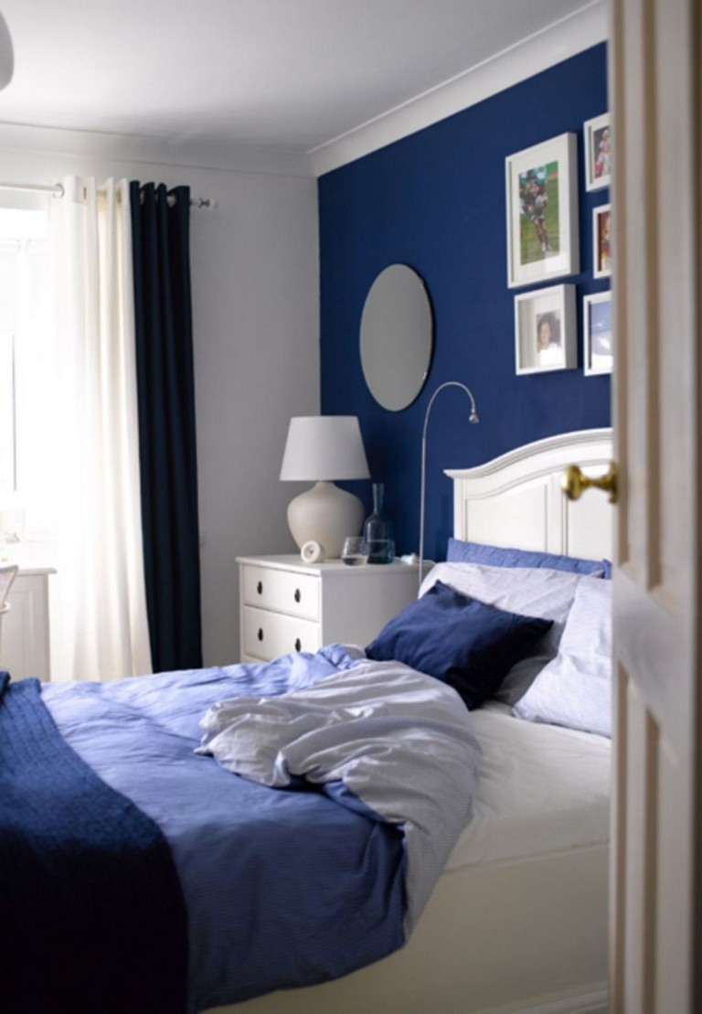 10 Good Cool Navy And White Bedroom Design Ideas Paredes Azuis