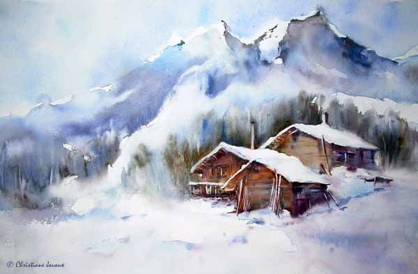 Christiane Javaux Landscapes Watercolor Paintings