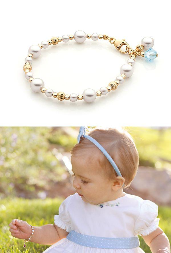 Dainty Pearls 14k Gold Baby Children S Beaded Bracelet Mis