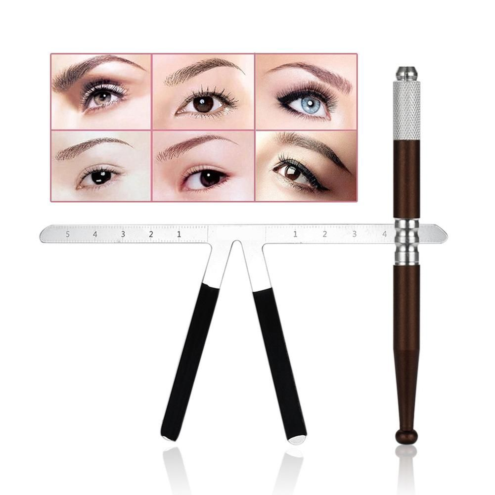 35 microblading tattoo pen stainless steel eyebrow ruler