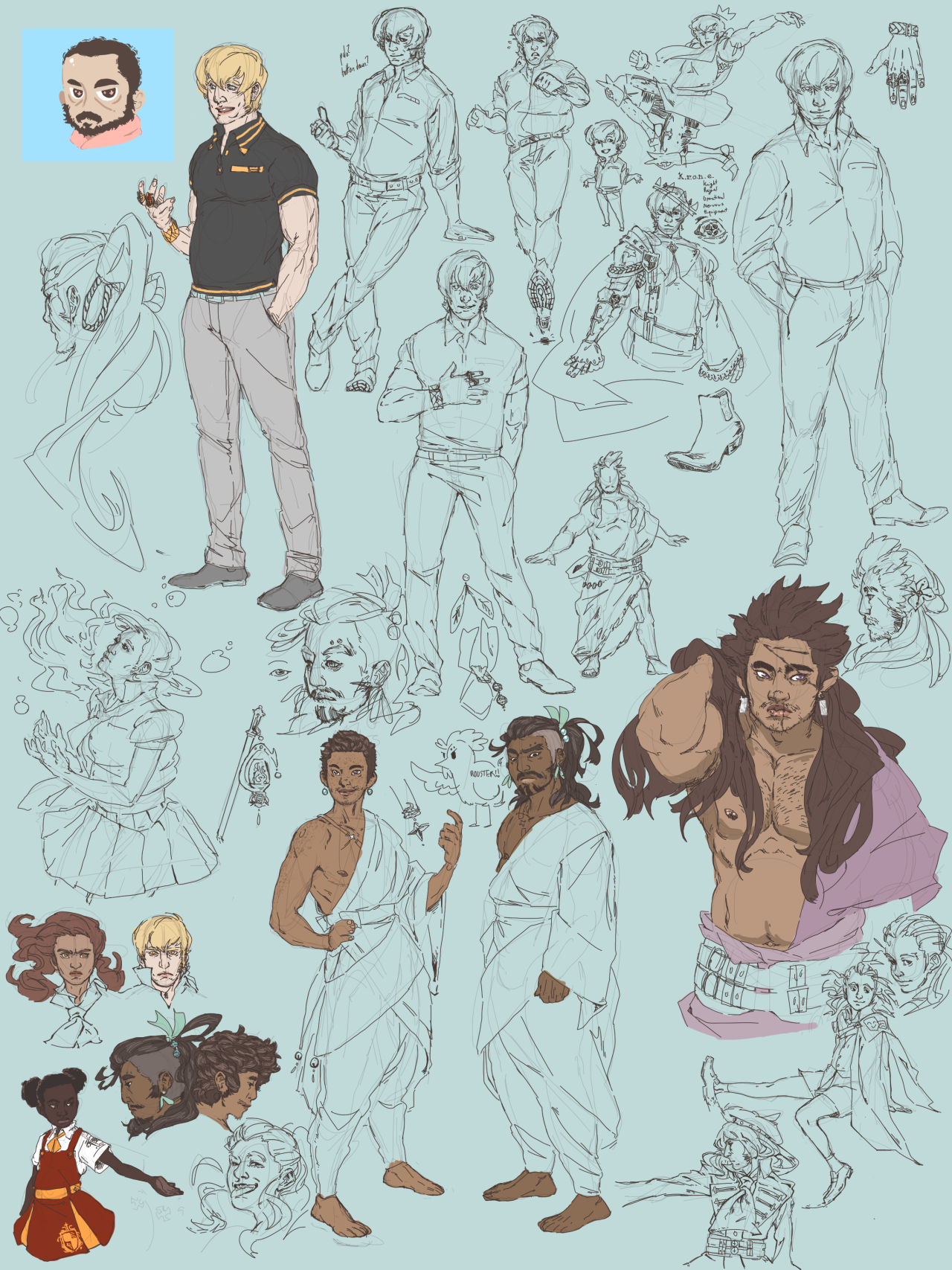 another sketch page and some detail shots