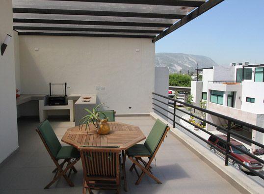 Terraza En Tercer Nivel Con Asador Planos De Casas