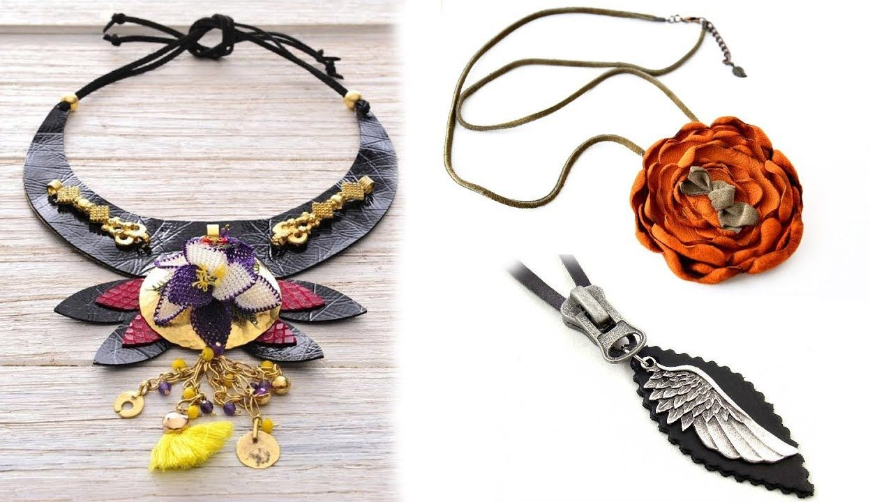 Leather necklace designs world latest fashion jewellery